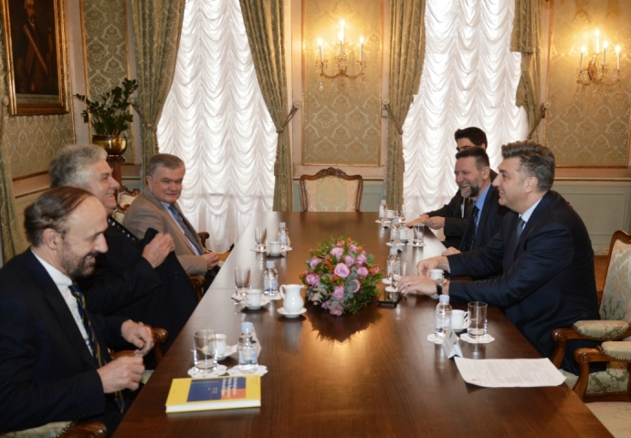The meeting of the Prime Minister Andrej Plenković and Minister of Science and Education Pave Barisic with three prominent academics