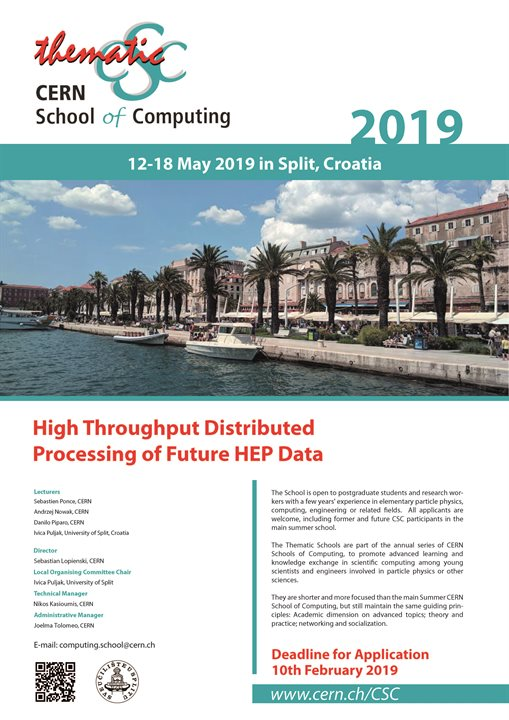 Thematic CERN School of Computing (tCSC 2019)
